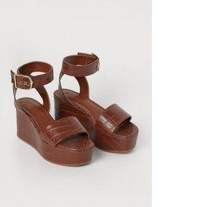 H&M wedge-heeled sandals, 6
